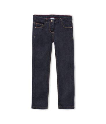 Pantalone in denim bambina blu Jean
