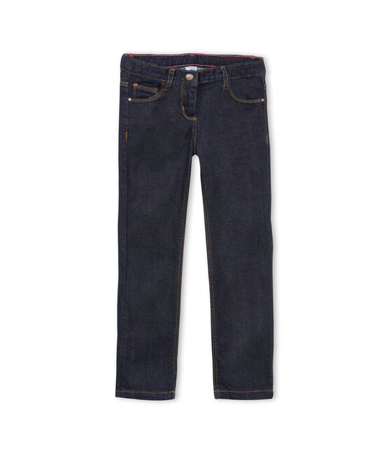 Pantalone in denim bambina blu Jean