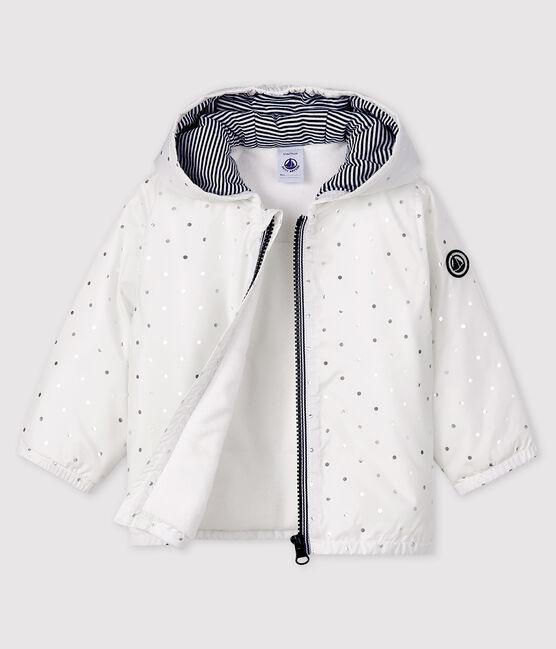 Giubbotto bebè femmina/maschio fantasia bianco Marshmallow / grigio Argent