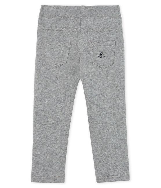 Pantalone bebè maschio in caldo molleton grigio Subway