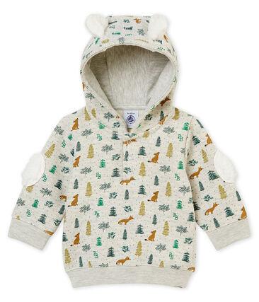 Felpa stampata con cappuccio per bebé maschio