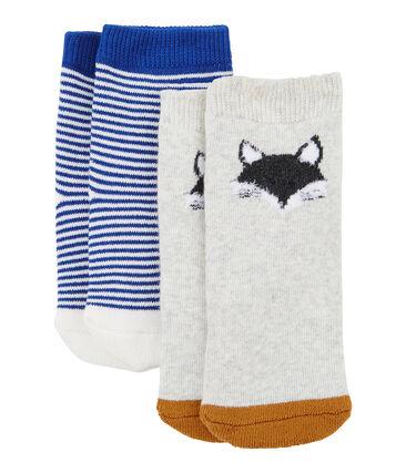Confezione da 2 paia di calzini bebè unisex grigio Beluga