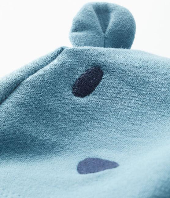 Cuffietta bebè unisex in molleton elastam blu Fontaine