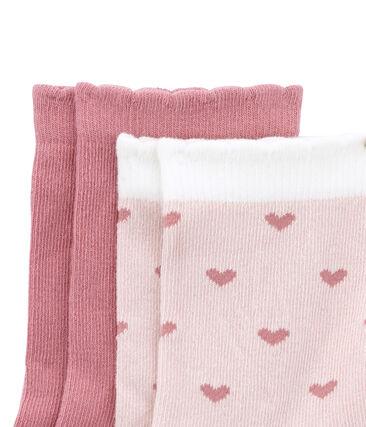 Lotto di 2 paia di calze colorate e stampate lotto .