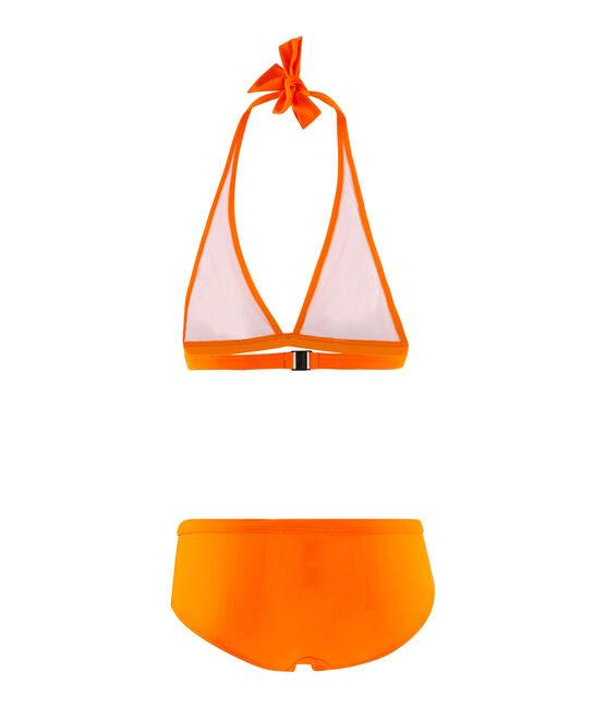 Costume due pezzi ecoresponsabile arancione Tiger