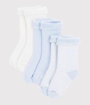 Confezione da 3 paia di calzini bebè in tricot lotto .