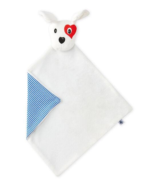 Doudou piatto cane bianco Ecume / bianco Multico