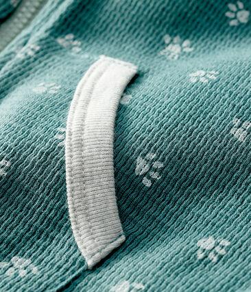 Felpa con cappuccio bebè fantasia blu Brut / bianco Marshmallow