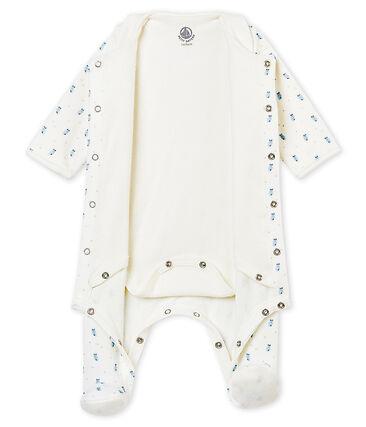 Bodygiama stampato in ciniglia per bebé maschio