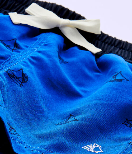 Costume da bagno bebé bambino stampato blu Perse / blu Smoking