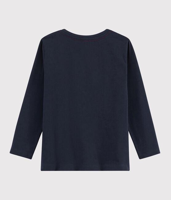 T-shirt serigrafata bambino blu Smoking