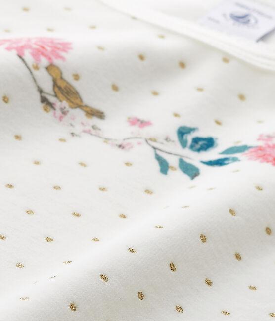 Chemise de nuit fille en bouclette velours bianco Lait / giallo Or