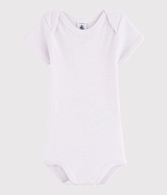 Body manica corta bebè femmina LISERON/MARSHMALLOW