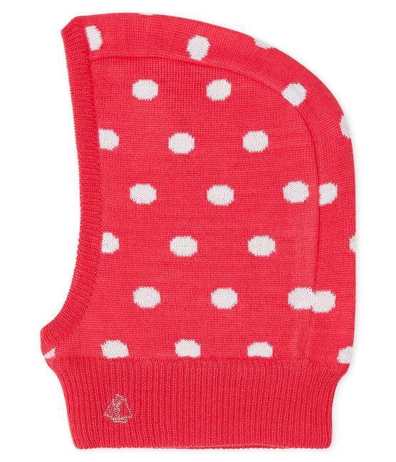 Passamontagna bebè unisex rosso Signal / bianco Marshmallow