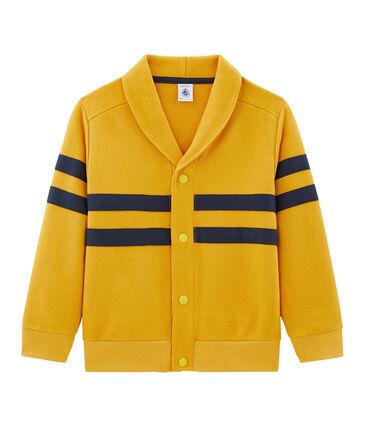 Cardigan bambino giallo Boudor