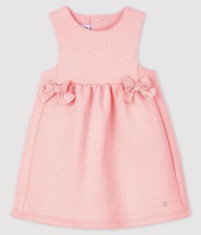 Abito senza maniche bebè femmina rosa Minois