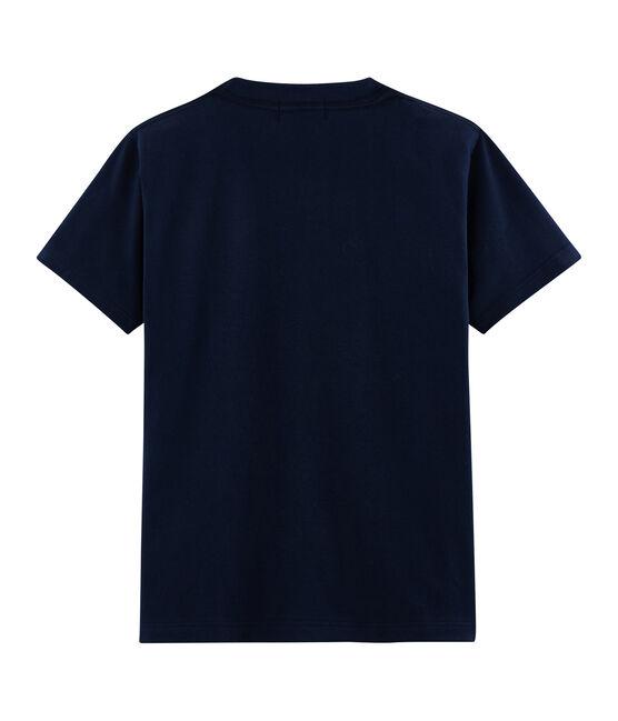 T-shirt unisex fantasia cartolina postale blu Haddock