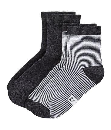 Lotto da 2 paia di calzini donna