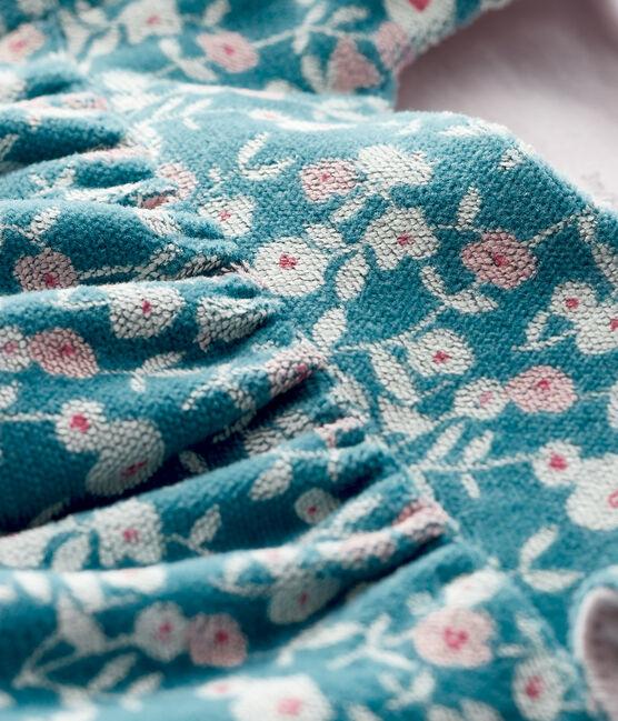 Abito a maniche lunghe da neonata a fiori in velluto MOZAIK/MULTICO