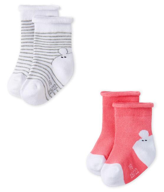 Confezione da 2 paia di calzini bebè unisex lotto .