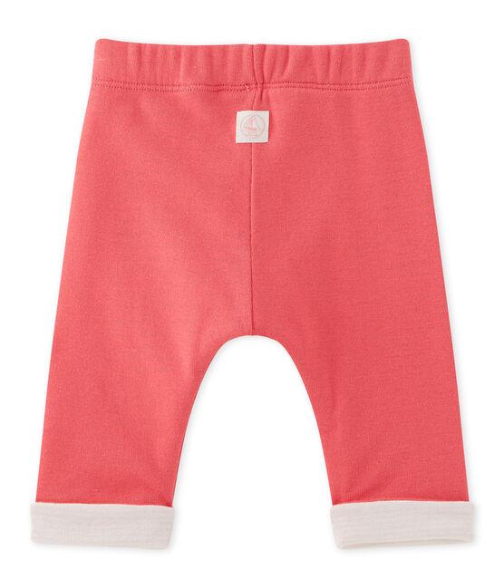 Pantaloni per bebè maschio reversibili rosa Gloss