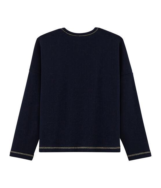 T-shirt serigrafata bambina blu Smoking