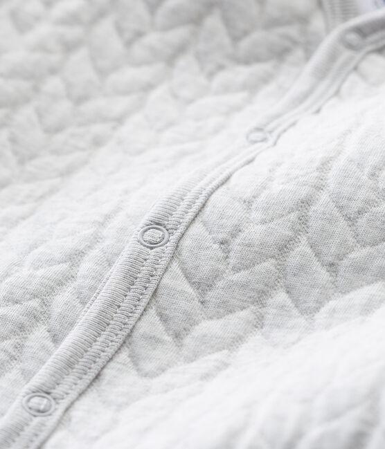 Tutina pigiama senza piedi in tubique per neonati grigio Beluga