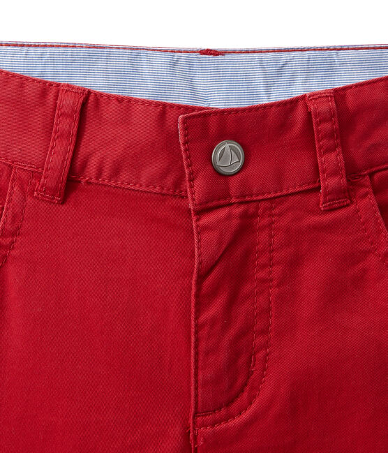 Pantaloni colorati per bambino in jeans rosso Terkuit
