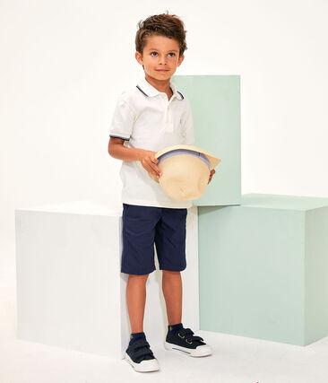 Polo bambino bianco Marshmallow