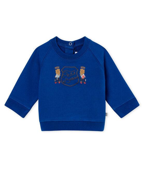 Felpa per bebé maschio blu Limoges