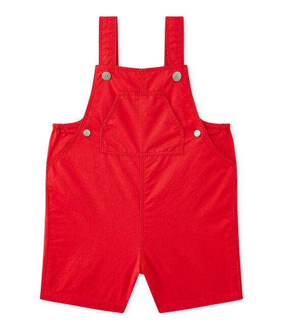 Salopette corta per bebè maschio rosso Terkuit