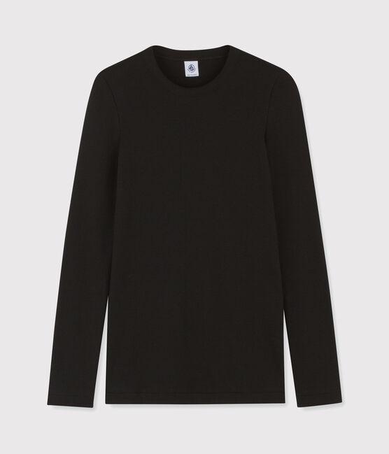 T-shirt iconica scollo rotondo Donna nero Noir