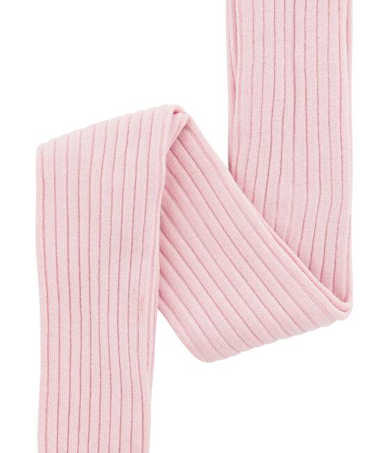 Collants a costina 5x2 per bambina rosa Joli