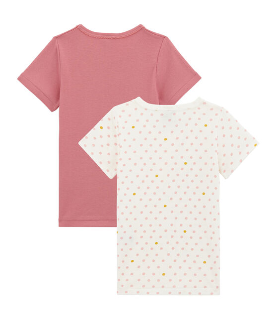 Lotto di 2 t-shirts a maniche corte per bambina lotto .