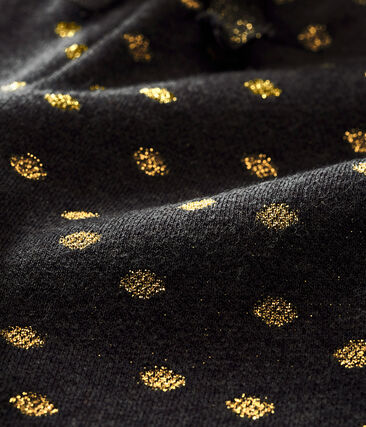 Pantalone per bebé femmina con stampa di pois dorati