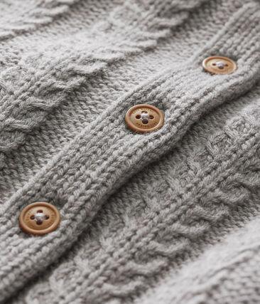 Cardigan in tricot lana e cotone per bebé unisex