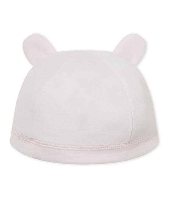 Cappello nascita per bebè in ciniglia rosa Vienne