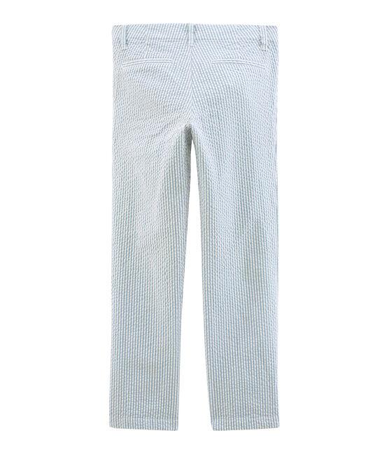 Pantalone bambino blu Fontaine / bianco Marshmallow