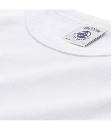 T-shirt bambino maniche lunghe bianco Lait