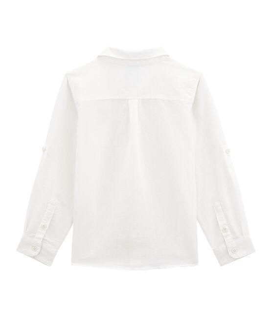 Camicia in lino/cotone bambino bianco Lait