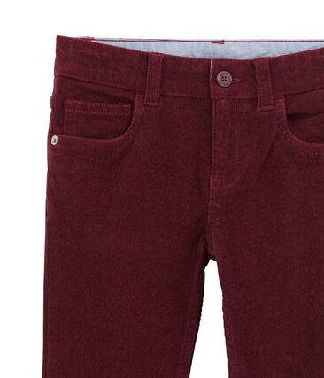Pantalone per bambino in velluto