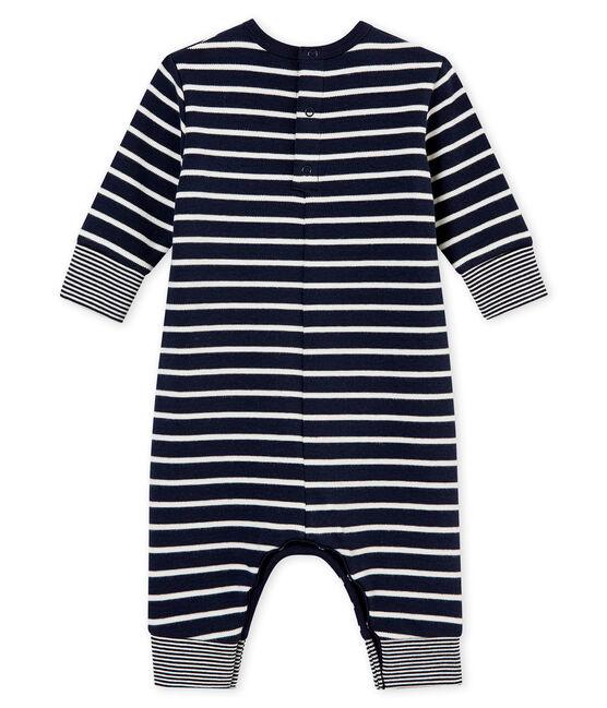 Tutina lunga iconica per bebé maschio blu Smoking / bianco Marshmallow