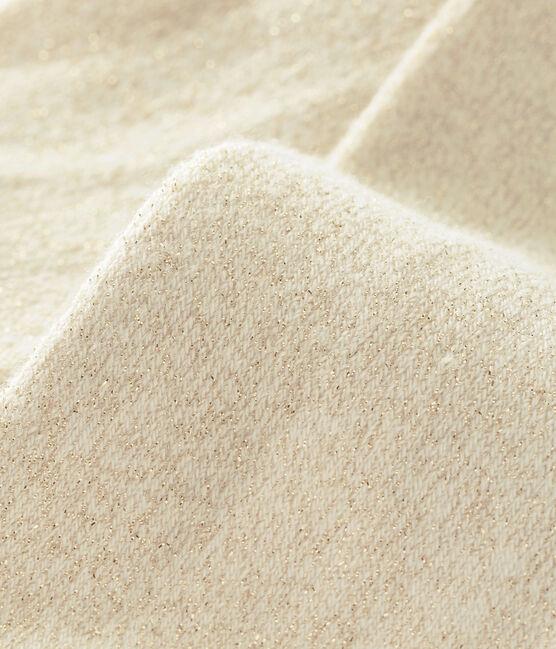 Collants scintillanti per bebé femmina bianco Marshmallow / giallo Dore