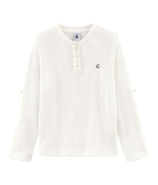 T-shirt maniche lunghe bambino bianco Marshmallow