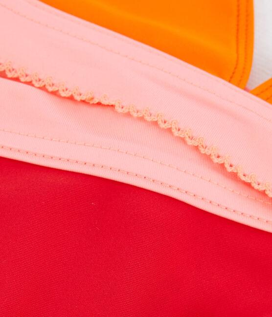 Costume da bagno 2 pezzi ecoresponsabile bambina arancione Tiger / bianco Multico