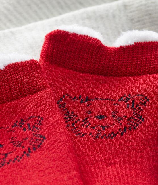 Confezione da 2 paia di calzini bebè unisex rosso Terkuit