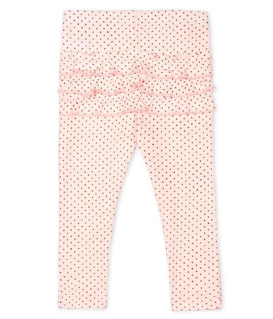 Leggings stampati bebè femmina rosa Fleur / rosa Copper