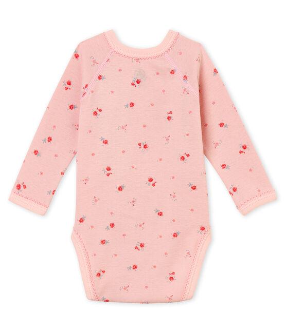 Body nascita a maniche lunghe per bebé femmina rosa Joli / bianco Multico