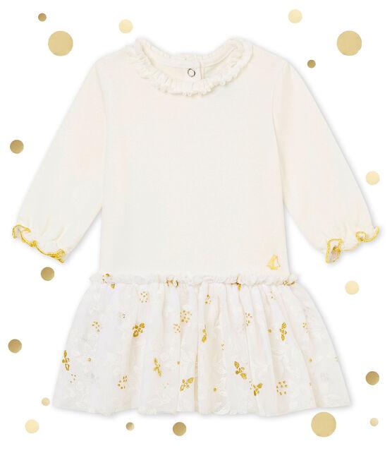 Abito in tulle per bebé femmina bianco Marshmallow / bianco Multico