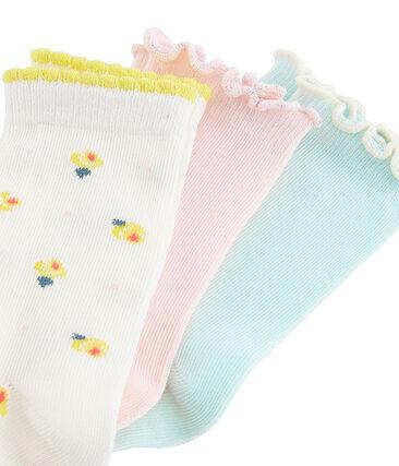 Set di 3 paia di calzini bambina lotto .